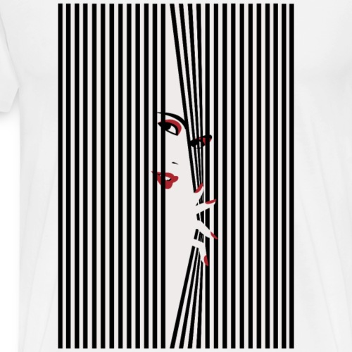 Peeking Woman - Premium-T-shirt herr
