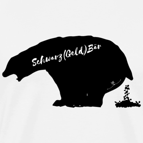 Schwarz(geld)bär - Männer Premium T-Shirt