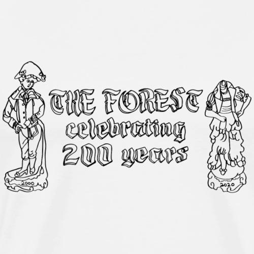 Forest 200 Black - Men's Premium T-Shirt