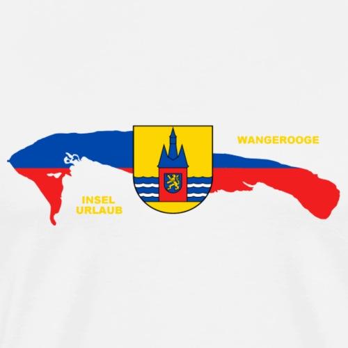 Wangerooge Insel Nordsee Urlaub - Männer Premium T-Shirt