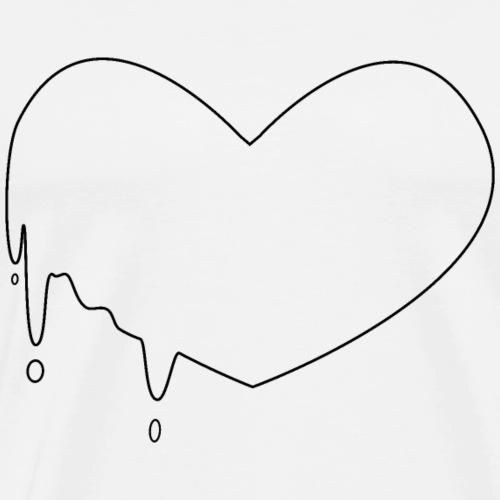 Coeur coulant minimal - T-shirt Premium Homme