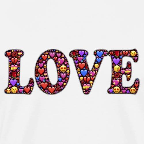 Love emoji - T-shirt Premium Homme