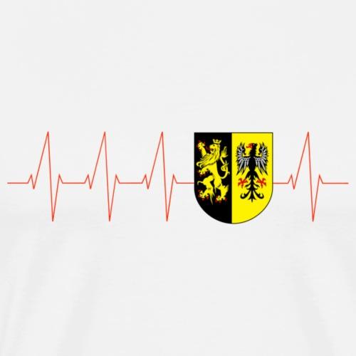 Vogtland Herzschlag Puls Heimat Sachsen - Männer Premium T-Shirt