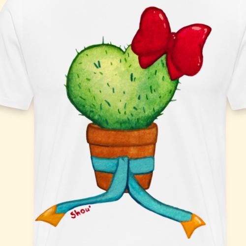 Cactus Coeur - T-shirt Premium Homme