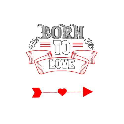 Born to Love DEIN TEXT personalisierbar - Männer Premium T-Shirt