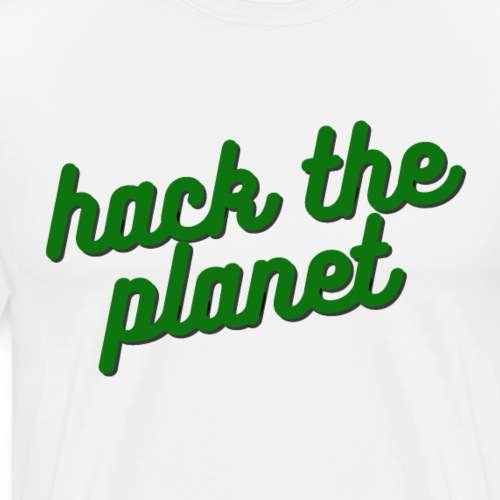 Hack The Planet - Premium-T-shirt herr