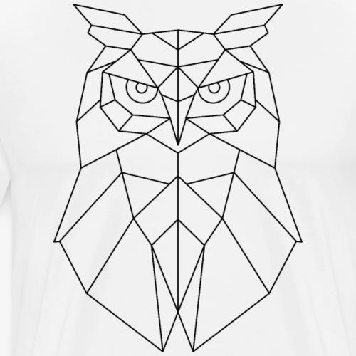 Eule Geometrisch schwarz - Männer Premium T-Shirt