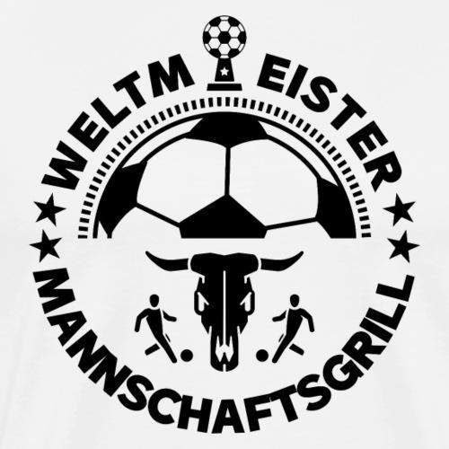 FUSSBALL MANNSCHAFTSGRILL v1S - Männer Premium T-Shirt
