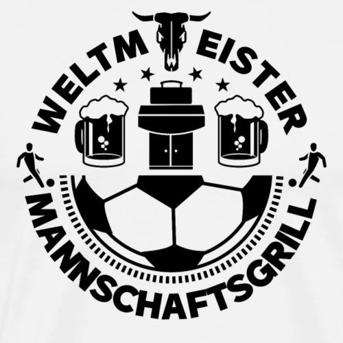 FUSSBALL MANNSCHAFTSGRILL v2S - Männer Premium T-Shirt