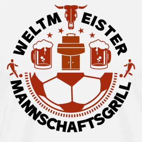FUSSBALL MANNSCHAFTSGRILL v2SB - Männer Premium T-Shirt