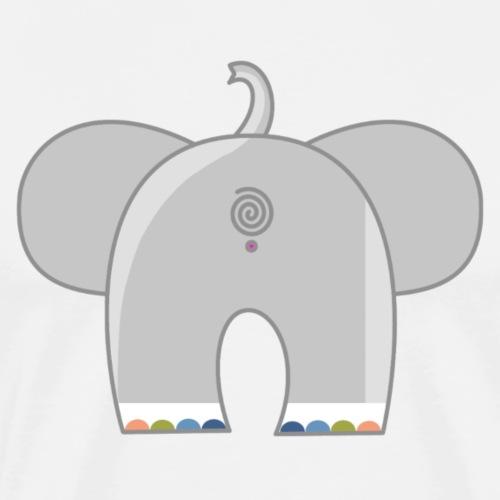 Regenboog olifant - T-shirt Premium Homme