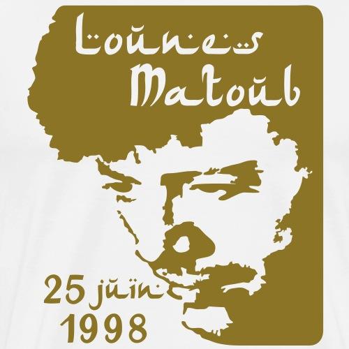 Motif hommage à Lounes Matoub - T-shirt Premium Homme
