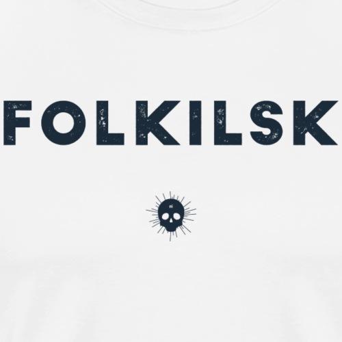Folkilsk - Mörblått tryck - Premium-T-shirt herr