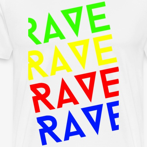 rave rave rave - Men's Premium T-Shirt