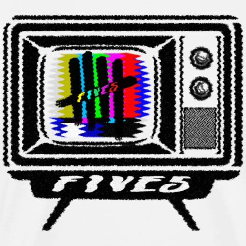 FIVES old tv broadcast - T-shirt Premium Homme