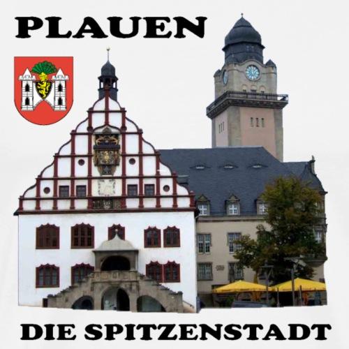 Plauen Vogtland Spitzenstadt Rathaus - Männer Premium T-Shirt