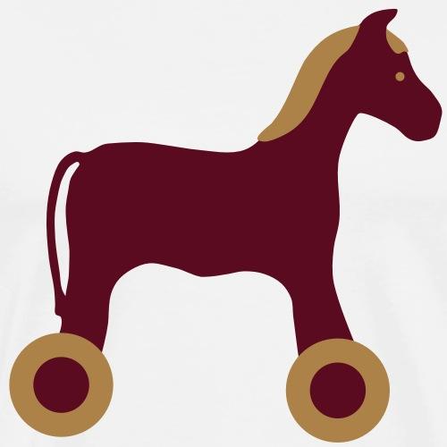 Nachziehtier Pferd Birth Geburt Birthday Baby - Männer Premium T-Shirt