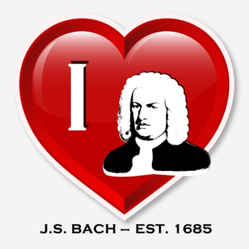 I love Johann Sebastian Bach - Männer Premium T-Shirt