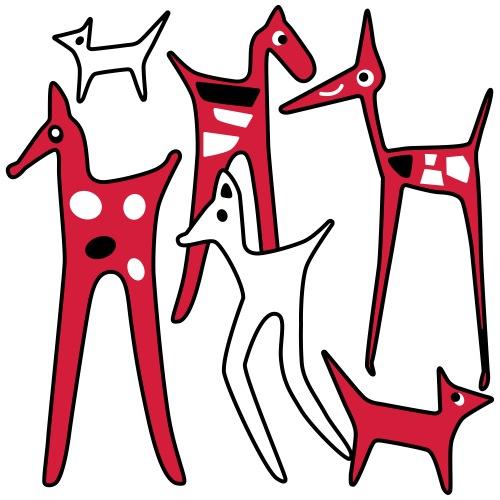 stylized_animals - Maglietta Premium da uomo