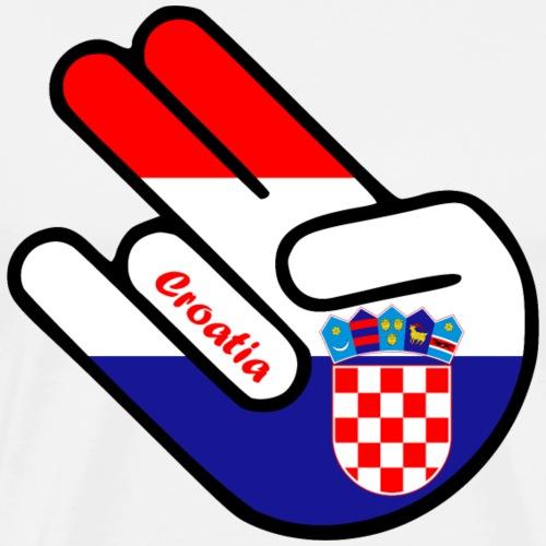 Shocker Croatia Kroatien Hrvatska Shirt Geschenk - Männer Premium T-Shirt