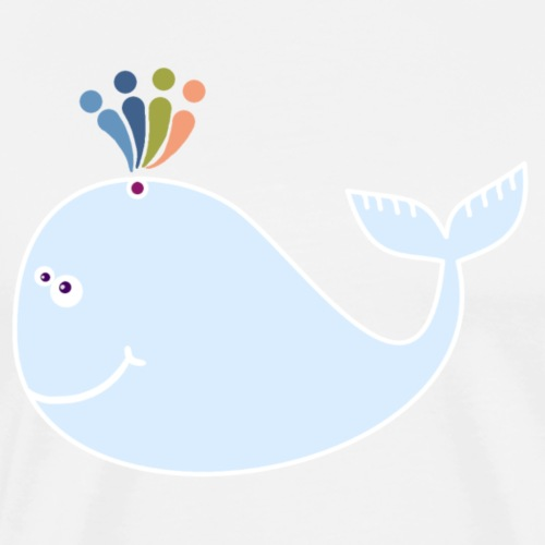 Regenboog walvis - T-shirt Premium Homme
