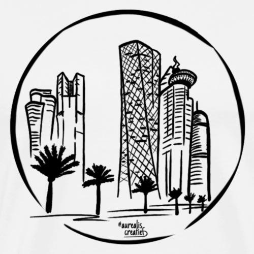Visite de la ville de Doha au Qatar - T-shirt Premium Homme