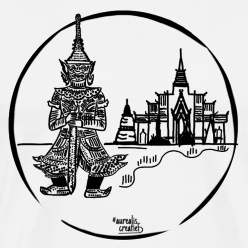 Temple de Thaïlande - T-shirt Premium Homme