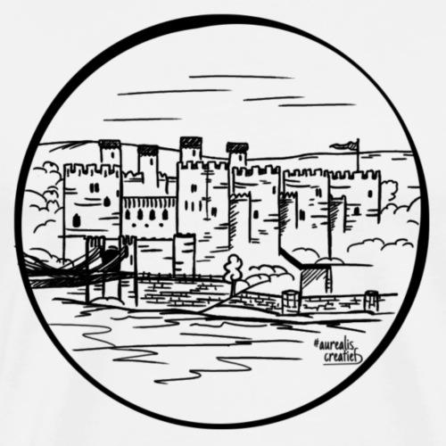 Château du Pays de Galles - T-shirt Premium Homme