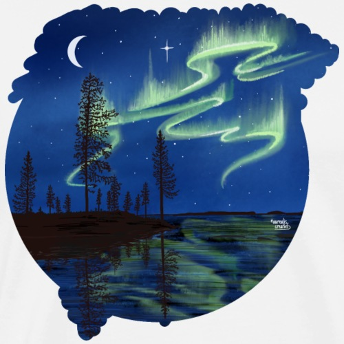 Reflet des aurores boréales - lapland8seasons - T-shirt Premium Homme