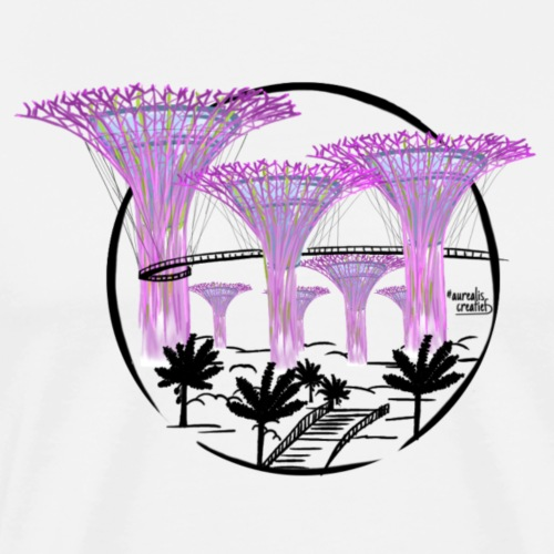 Singapore - Garden by the Bay - T-shirt Premium Homme