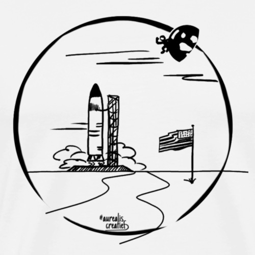 Voyage spatial USA NASA - T-shirt Premium Homme