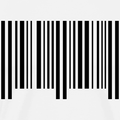 barcode - schwarz - Männer Premium T-Shirt