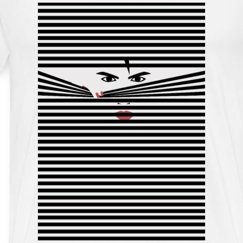 Peeking Man - Premium-T-shirt herr