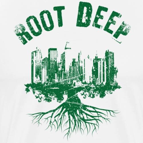Root deep Urban grün - Männer Premium T-Shirt