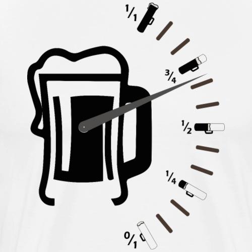 Nivel Depósito de Cerveza Medidor Cerveza Negro - Camiseta premium hombre