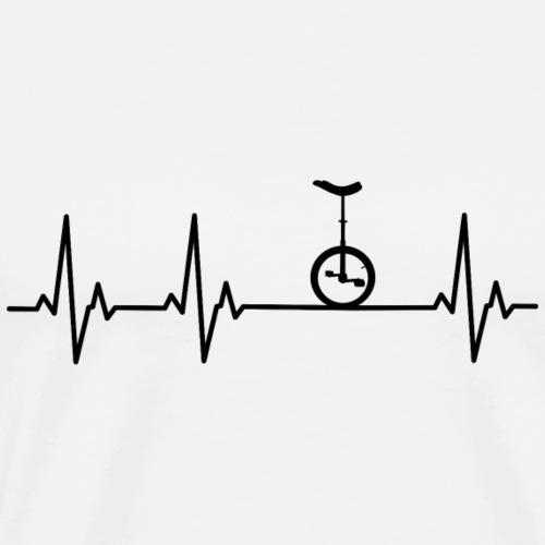 Einrad | Heart Monitor - Männer Premium T-Shirt