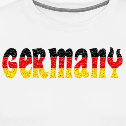 Germany flag crystal - Men's Premium T-Shirt