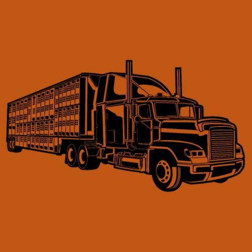 Truck / Lkw 01_schwarz - Männer Premium T-Shirt