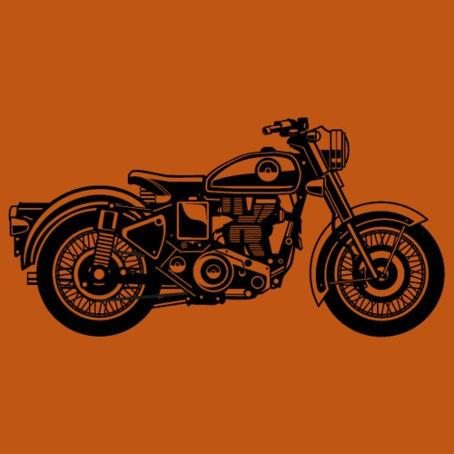 Motorrad / Classic Motorcycle 04_schwarz - Männer Premium T-Shirt