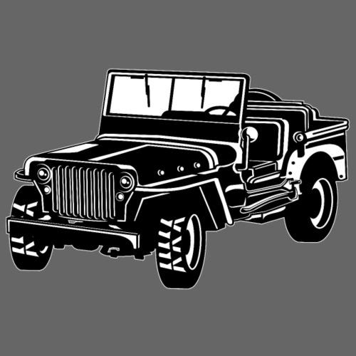 Geländewagen / Jeep SUV 02_schwarz weiß - Männer Premium T-Shirt
