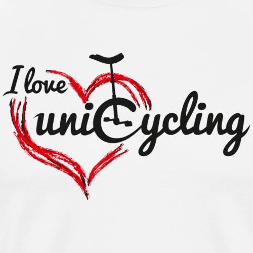 Einrad   I love unicycling - Männer Premium T-Shirt