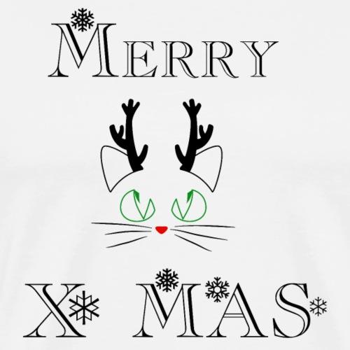 Merry Christmas Katze Renntier. Weihnachten,Advent