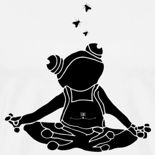 Frosch- Wer die Stille lebt... - Männer Premium T-Shirt
