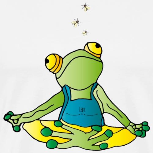Frosch- Wer die Stille lebt.... - Männer Premium T-Shirt
