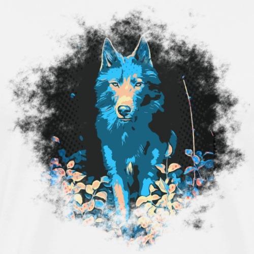 Loup bleu - T-shirt Premium Homme