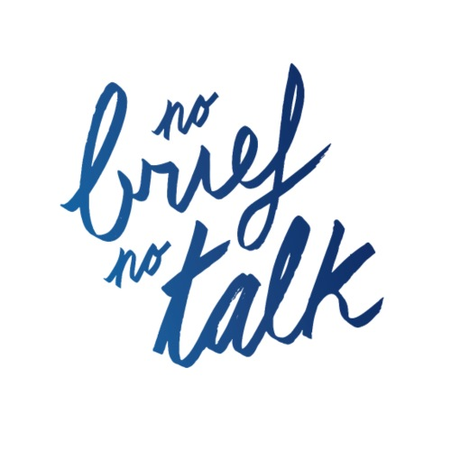 No brief no talk | T-shirts Design - Men's Premium T-Shirt