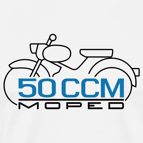 Moped Spatz 50 ccm Emblem - Men's Premium T-Shirt
