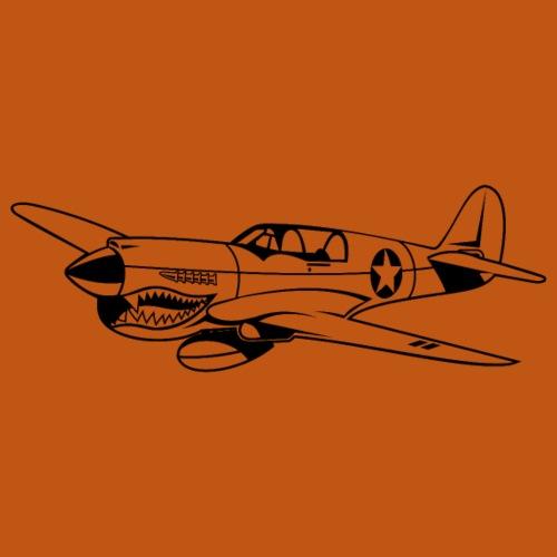 Jagdflugzeug / Kampfflieger Warhawk 02_schwarz - Männer Premium T-Shirt