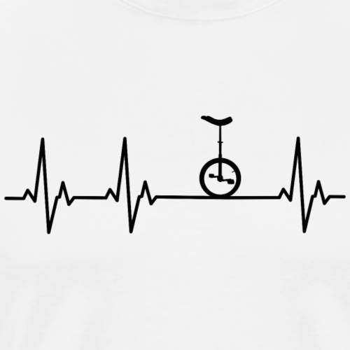 Einrad   Heart Monitor - Männer Premium T-Shirt