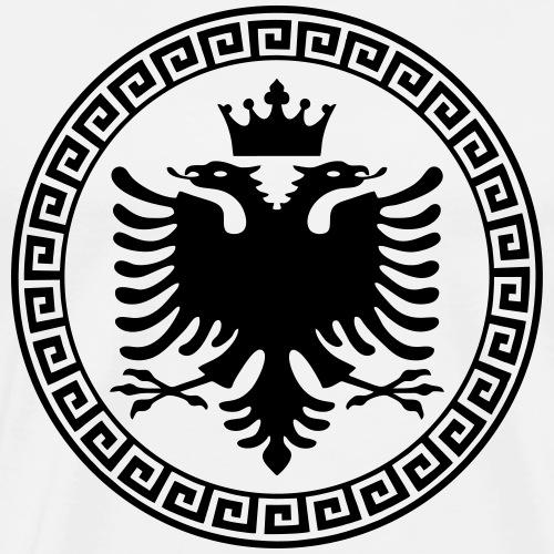 Doppelkopfadler Krone / Albanischer Adler Flagge - Männer Premium T-Shirt